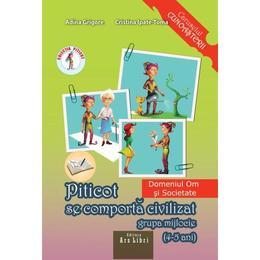 Piticot se comporta civilizat - Grupa Mijlocie - Adina Grigore, Cristina Ipate-Toma, editura Ars Libri