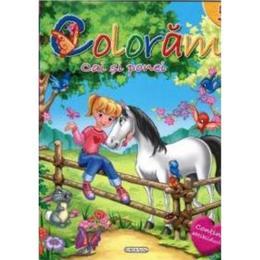 Coloram 5: Cai si ponei (Contine abtibilduri), editura Girasol