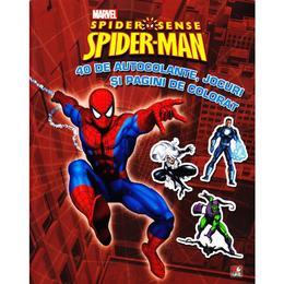 Spider-Man - 40 de autocolante, jocuri si pagini de colorat, editura Litera