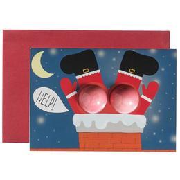 Set cadou Felicitare cu bileefervescente de baie 30g + plic Help Santa, Bomb Cosmetics de la esteto.ro