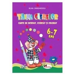 Taina cifrelor 6-7 ani - Carte de desenat, exersat si colorat - Silvia Draghicescu, editura Aramis