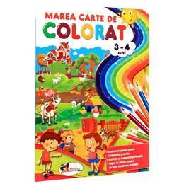 Marea carte de colorat 3-4 ani, editura Aramis