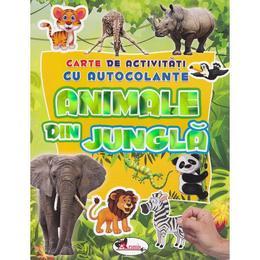 Animale din jungla - Carte de activitati cu autocolante, editura Aramis