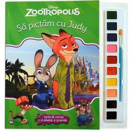 Sa pictam cu Judy - Carte de colorat cu pensula si acuarele, editura Litera