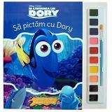 Sa pictam cu Dory - Carte de colorat cu pensula si acuarele, editura Litera