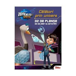 Miles in spatiu: Calatori prin univers - 32 de planse de colorat cu activitati, editura Litera