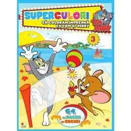 Superculori. Sa coloram impreuna cu Tom si Jerry, editura Litera