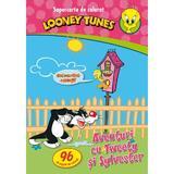 Looney Tunes - Aventuri cu Tweety si Sylvester - Supercarte de colorat, editura Litera