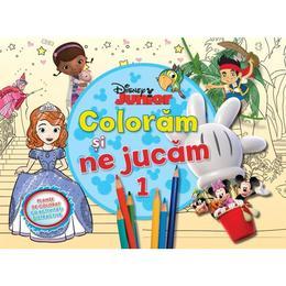 Disney Junior - Coloram si ne jucam 1. Planse de colorat cu activitati distractive, editura Litera