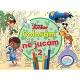 Disney Junior - Coloram si ne jucam 2. Planse de colorat cu activitati distractive, editura Litera