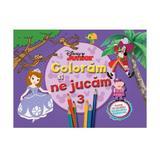 Disney Junior - Coloram si ne jucam 3. Planse de colorat cu activitati distractive, editura Litera