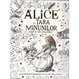Alice in Tara Minunilor - Carte de colorat, editura Litera