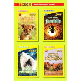 Set 4 volume National Geographic Kids: Citesc si descopar lumea!, editura Litera