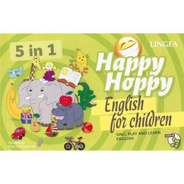 Happy Hoppy, English for children 5 in 1: Sing, play and learn english, editura Linghea