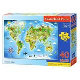 Puzzle 40 Maxi Castorland - World Map