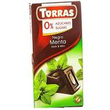 Ciocolata Neagra cu Menta Torras, 75 g
