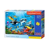 Puzzle 200 castorland - tropical underwater world