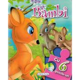 Bambi. Povesti cu 6 puzzle-uri, editura Girasol