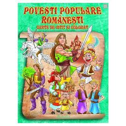Povesti populare romanesti. Carte de citit si colorat, editura Aquila