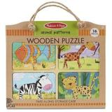 Wooden puzzle. Animal patterns. Set 4 puzzle lemn