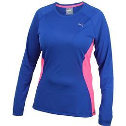 Bluza femei Puma Core-Run Tee 51503502, XS, Albastru