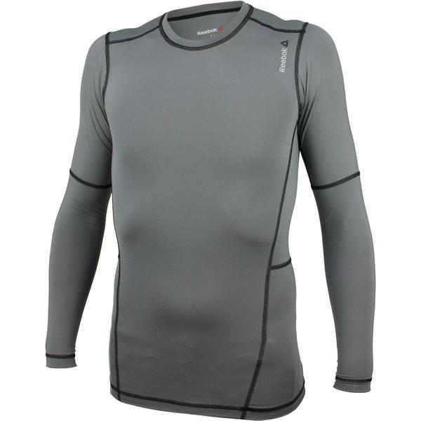 Bluza barbati Reebok Wor Compr LO Sleeve AO0608, L, Gri