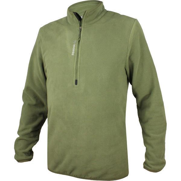 Bluza barbati Reebok FM 1/4 ZIP Fleece AX9066, XL, Verde