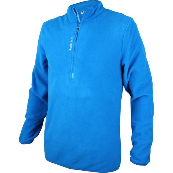 Bluza barbati Reebok FM 1/4 Zip Fleece AX9067, S, Albastru