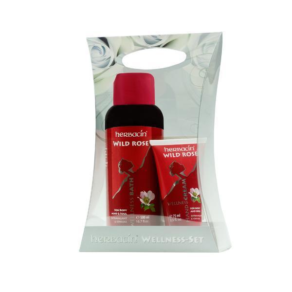 Set cadou Trandafir salbatic, Herbacin crema 75ml + spuma baie 500ml esteto.ro