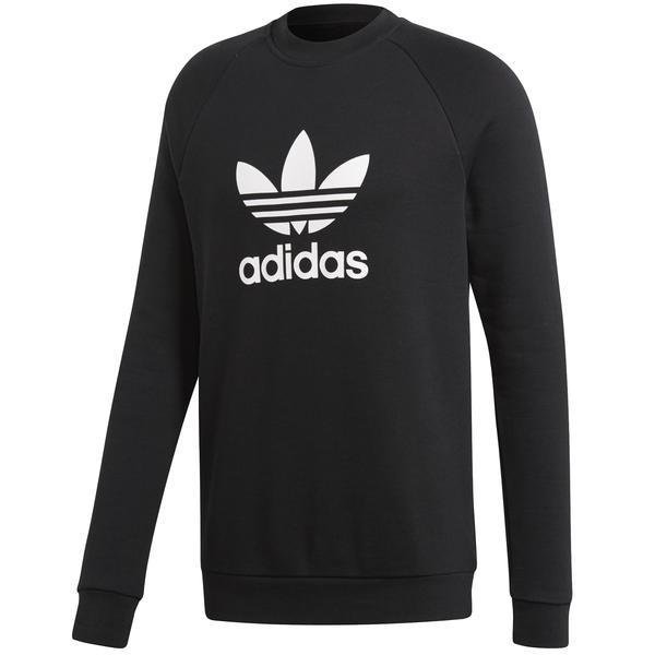 Bluza barbati adidas Originals Trefoil Crew CW1235, XL, Negru