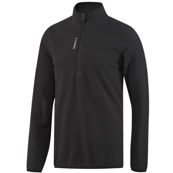 Bluza barbati Reebok Outdoor Fleece Quarter Zip BR0493, L, Negru