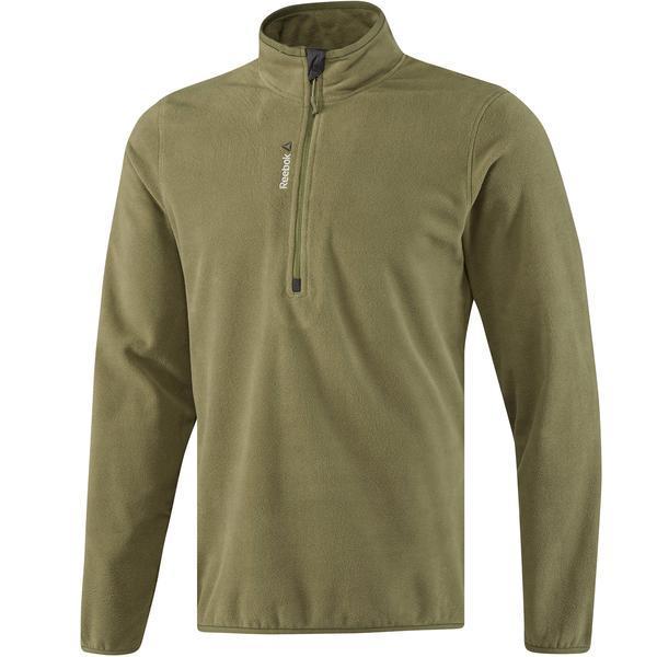 Bluza barbati Reebok Outdoor Fleece Quarter Zip BQ8235, XL, Verde