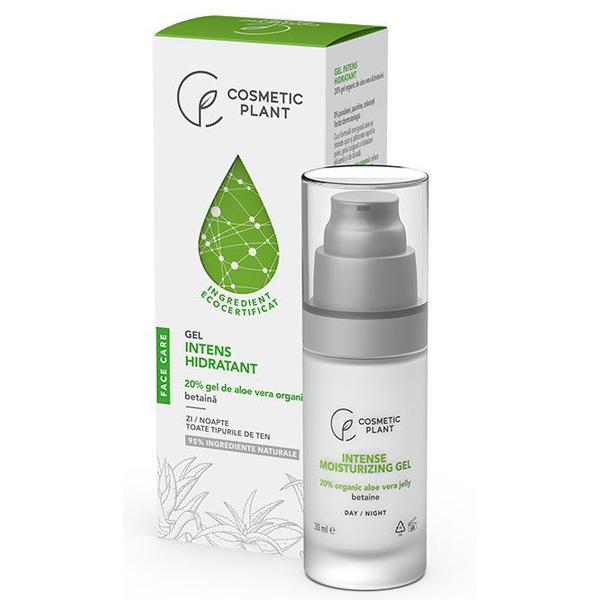 Gel Intens Hidratant 20% Aloe Vera Cosmetic Plant, 30 ml imagine produs