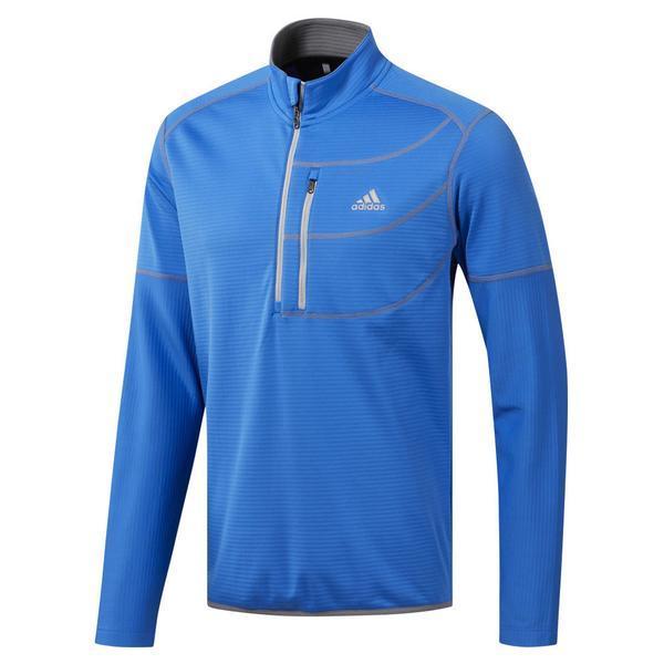 Bluza barbati adidas Performance Climawarm Gridded 1/4 Zip Golf DQ1785, S, Albastru