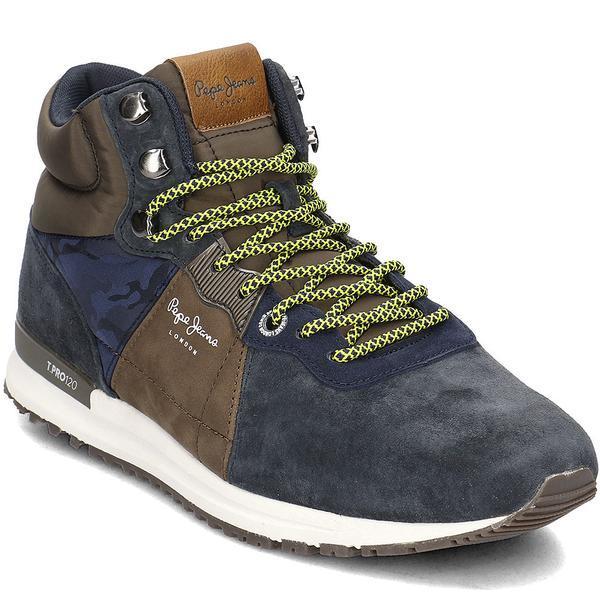 Ghete barbati Pepe Jeans Tinker Pro-Boot PMS30490-595, 43, Albastru
