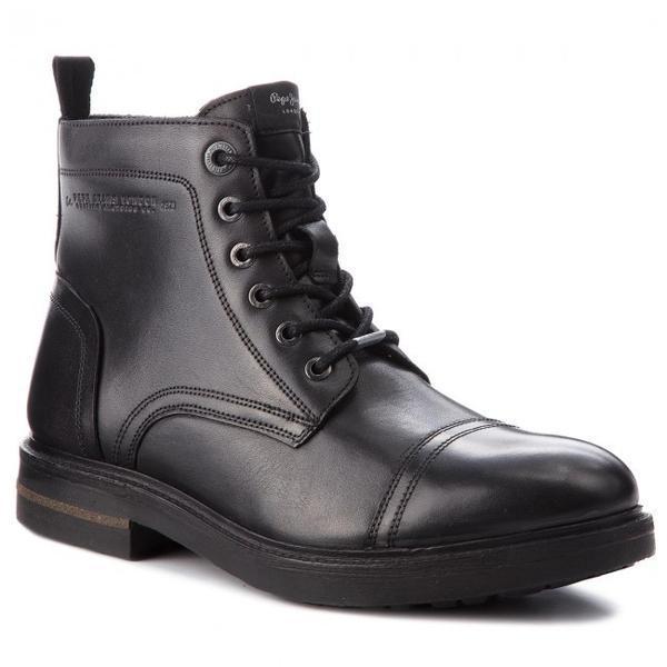 Ghete barbati Pepe Jeans Hubert Boot PMS50159-999, 45, Negru
