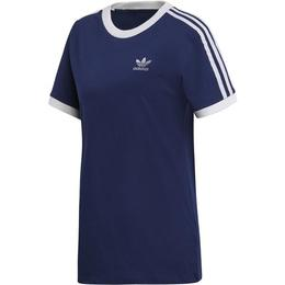 Tricou femei adidas Originals 3 STRIPES TEE DV2592, L, Albastru