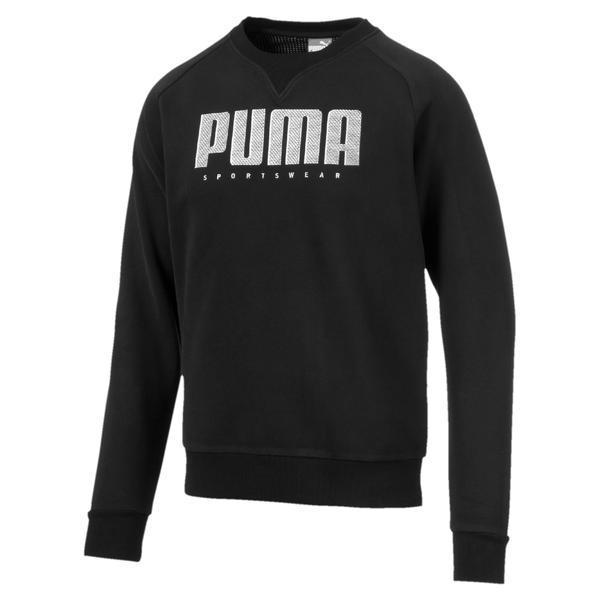 Bluza Barbati Puma Athletics Crew Fl 58015701, M, Negru