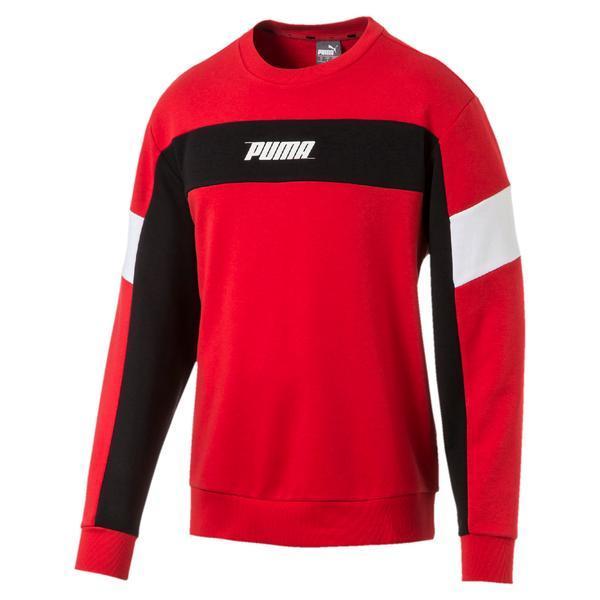 Bluza barbati Puma Rebel Crew Neck Men's Sweater 85419711, XL, Rosu