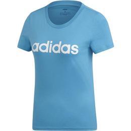 Tricou femei adidas Performance Essentials Linear Tee DU0630, L, Albastru