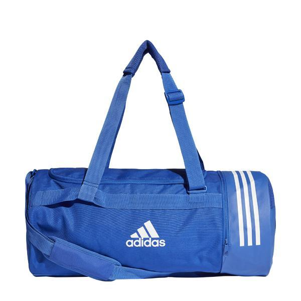 Geanta unisex adidas Performance Convertible 3-Stripes Duffel Bag Medium DT8657, M, Albastru