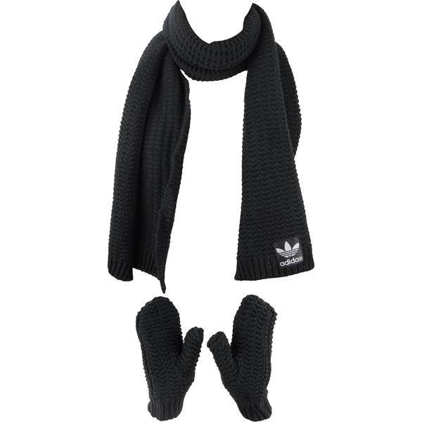 Set fular si manusi femei adidas Originals Scarf Glove AB2992, OSFW, Negru