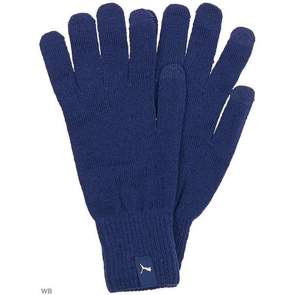 Manusi unisex Puma Knit 04131602, S, Albastru