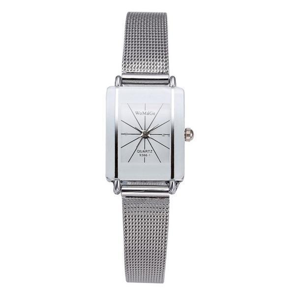 Ceas dama, Womage CS1111, model argintiu, cadran alb