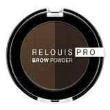 Fard pentru sprancene Relouis Pro Brown Powder, nuanta 03