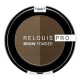 Fard pentru sprancene Relouis Pro Brown Powder, nuanta 02