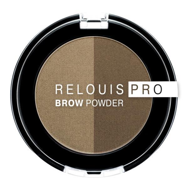 Fard pentru sprancene Relouis Pro Brown Powder, nuanta 01 imagine produs