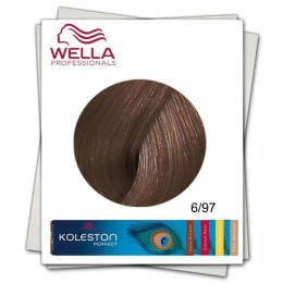 Vopsea Permanenta - Wella Professionals Koleston Perfect nuanta 6/97 blond inchis abastru maro