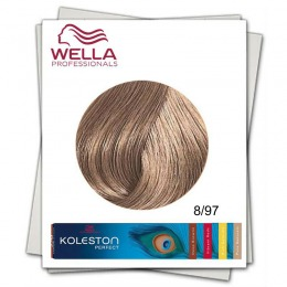 Vopsea Permanenta - Wella Professionals Koleston Perfect nuanta 8/97 blond deschis abastru maro