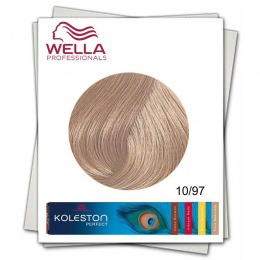 Vopsea Permanenta - Wella Professionals Koleston Perfect nuanta 10/97 blond luminos abastru maro